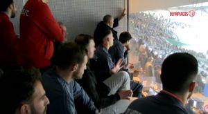 Ολυμπιακός: Οι πανηγυρισμοί στο μπουθ μετά το γκολ του Γκερέρο