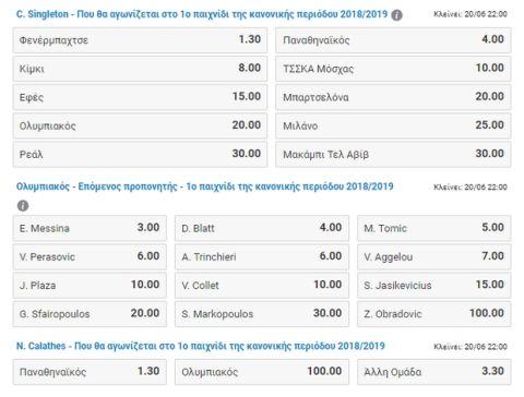 Τα ειδικά στοιχήματα του Stoiximan.gr για Παναθηναϊκό και Ολυμπιακό