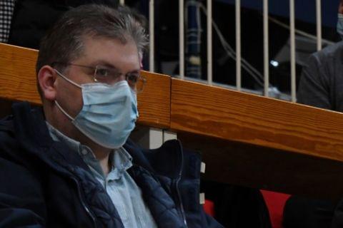 Ο Άγγελος Παπανικολάου παρακολουθεί το Παναθηναϊκός - Μεσολόγγι στο ΟΑΚΑ