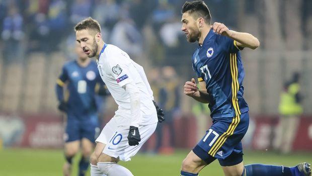 Βοσνία - Ελλάδα 2-1: Μείωσε με Φορτούνη η Εθνική