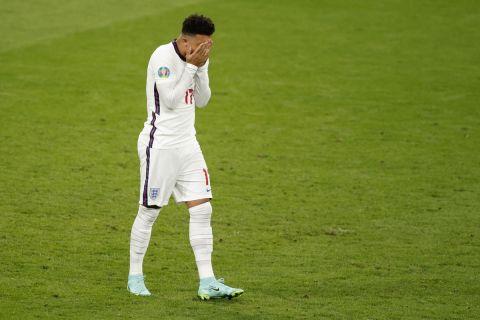 Η αντίδραση του Τζέιντον Σάντσο μετά το χαμένο πέναλτι στον τελικό του Euro 2020
