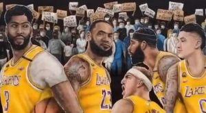 Λέικερς: Πανέμορφο γκράφιτι στο Λ.Α που απεικονίζει όλους τους παίκτες του ρόστερ