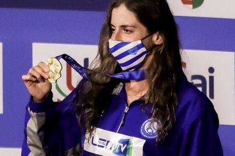 Η Άννα Ντουντουνάκη με το χρυσό μετάλλιο στο ευρωπαϊκό πρωτάθλημα