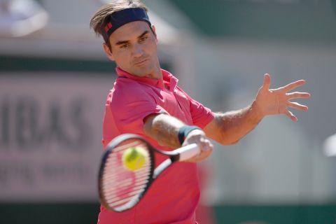 Ο Ρότζερ Φέντερερ στο Roland Garros