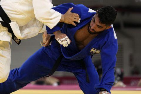 Ο Ισραηλινός τζουντούκα Μπουτμπούλ στον πρώτο αγώνα του στους Ολυμπιακούς