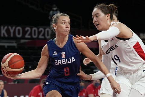 Στιγμιότυπο από το ματς της Σερβίας με την Κορέα