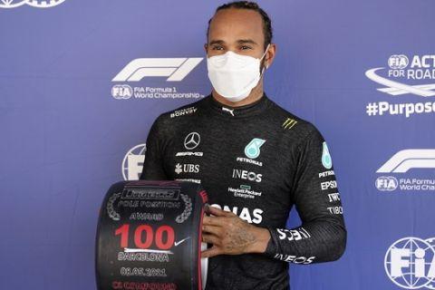 Ο Χάμιλτον μετά την 100η pole position στη Βαρκελώνη/8-5-2021