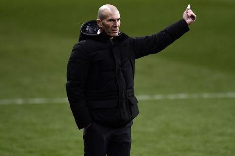 Ο προπονητής της Ρεάλ Μαδρίτης, Ζινεντίν Ζιντάν