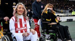 Συγκινητική στιγμή στο ΟΑΚΑ: Μυρτώ και Τόνια μαζί πριν το ΑΕΚ – Ολυμπιακός