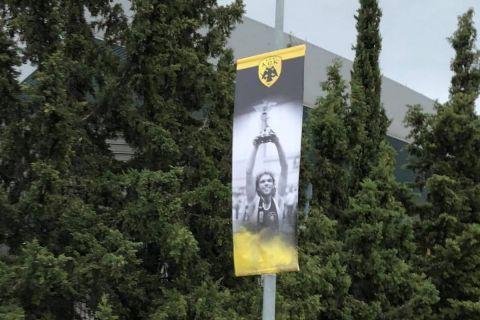 ΑΕΚ: Αφίσες με θρύλους της ομάδας οδηγούν τον κόσμο προς το νέο της γήπεδο στα Άνω Λιόσια