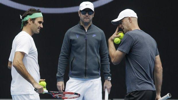 Roger Federer, Ivan Ljubicic (AP IMAGES)