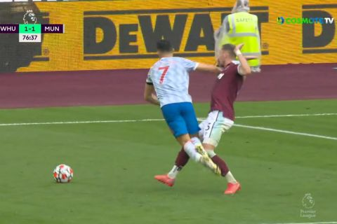Ο Ρονάλντο ζήτησε πέναλτι στο ματς της Γουέστ Χαμ - Μάντσεστερ Γιουνάιτεντ   19 Σεπτεμβρίου 2021