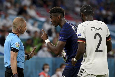 Euro 2020, Γαλλία - Γερμανία: Ο Ρίντιγκερ δάγκωσε στην πλάτη τον Πογκμπά