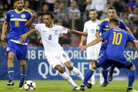 ÐÁÃÊÏÓÌÉÏ ÊÕÐÅËËÏ / ÐÑÏÊÑÉÌÁÔÉÊÁ / ÂÏÓÍÉÁ - ÅËËÁÄÁ / WORLD CUP / PRELIMINARY / BOSNIA - GREECE (Eurokinissi Sports)