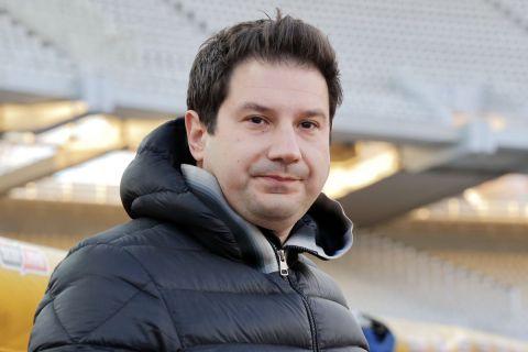Ο προπονητής του ΠΑΣ, Αργύρης Γιαννίκης, σε στιγμιότυπο της αναμέτρησης με την ΑΕΚ για τη Super League Interwetten 2020-2021 στο Ολυμπιακό Στάδιο   Τετάρτη 27 Ιανουαρίου 2021