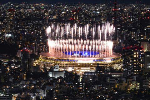 Μία πανοραμική εικόνα του Ολυμπιακού σταδίου
