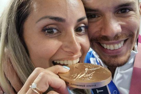 """Η περηφάνεια της Μιλλούση για τον Πετρούνια: """"Διπλά περήφανη για εσένα, δύο Ολυμπιακά μετάλλια"""""""