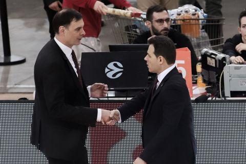 Μπαρτζώκας και Ιτούδης από την αναμέτρηση Ολυμπιακός - ΤΣΣΚΑ για τη Euroleague