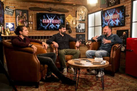 """Ο Πάνος Ρέτσος με τους Παντελή Βλαχόπουλο και Θέμη Καίσαρη στην """"Game Night"""""""
