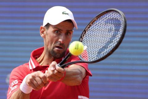 Ο Νόβακ Τζόκοβιτς κατά τη διάρκεια του Belgrade Open
