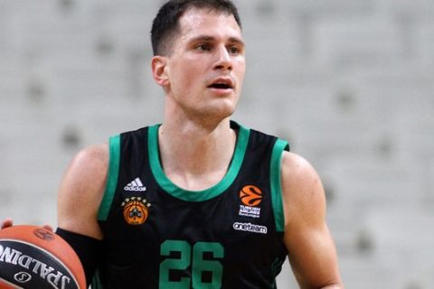 Ο Νεμάνια Νέντοβιτς σε στιγμιότυπο από την αναμέτρηση Παναθηναϊκός - Χίμκι (21/1/2021)