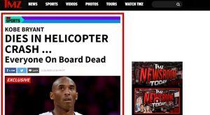 """Κόμπε Μπράιντ: Το TMZ αποκάλυψε στις 12.36 τον θάνατο του """"μπλακ μάμπα"""""""