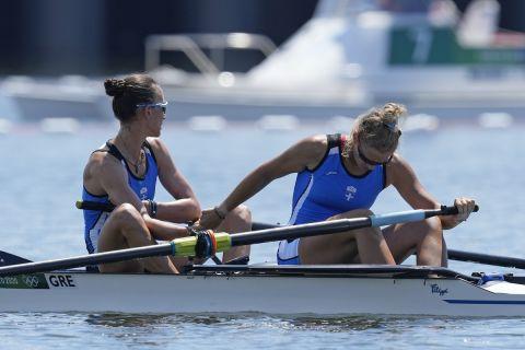 Μαρία Κυρίδου και Χριστίνα Μπούρμπου στη διάρκεια των Ολυμπιακών Αγώνων του Τόκιο