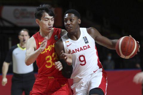 Στιγμιότυπο από το ματς Καναδάς - Κίνα