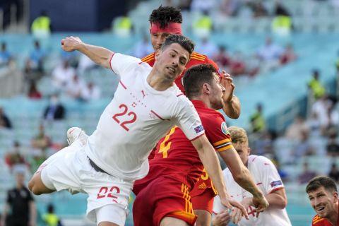 Φάση από την αναμέτρηση Ουαλία - Ελβετία στην πρεμιέρα του Euro 2020
