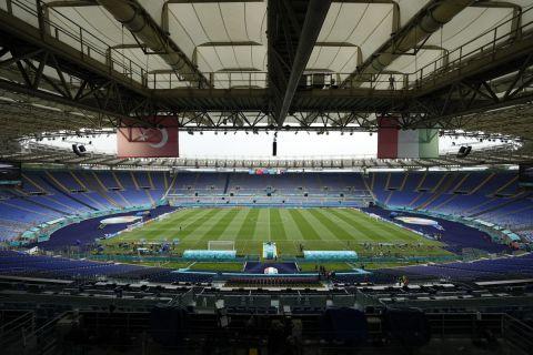 Το Ολίμπικο της Ρώμης πριν την έναρξη του Euro 2020