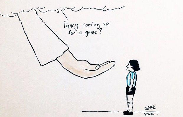 Σκίτσο για τον Ντιέγκο Μαραντόνα