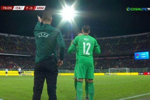 H Ιταλία άλλαξε τερματοφύλακα στο... 7-0!