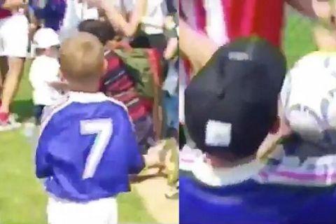 VIDEO: Ο Γκριεζμάν παιδάκι παίρνει αυτόγραφο από Ζιντάν, Μπαρτέζ και Λιζαραζού