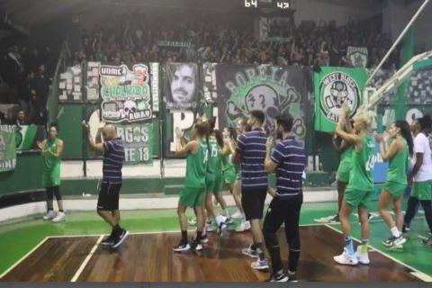 Παναθηναϊκός: Ο γύρος του θριάμβου για την ομάδα μπάσκετ γυναικών