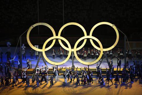 Οι πέντε Ολυμπιακοί κύκλοι στην τελετή έναρξης