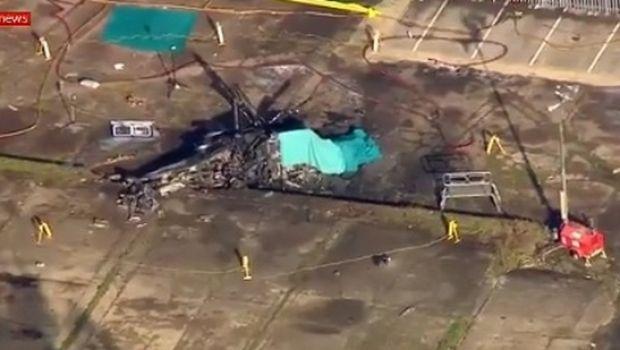 Το VIDEO με το κατεστραμμένο ελικόπτερο του ιδιοκτήτη της Λέστερ