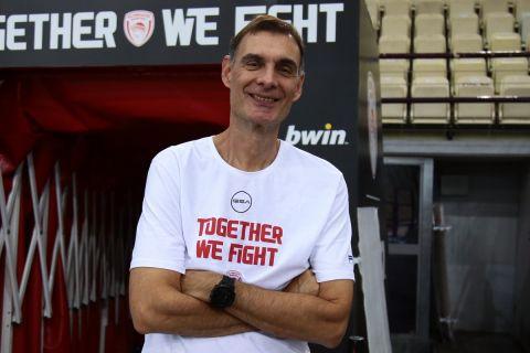 Ο προπονητής του Ολυμπιακού, Γιώργος Μπαρτζώκας