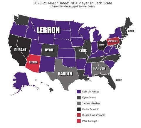 Ο ΛεΜπρόν Τζέιμς είναι -χωρίς ανταγωνισμό- ο πιο μισητός NBAer στις ΗΠΑ