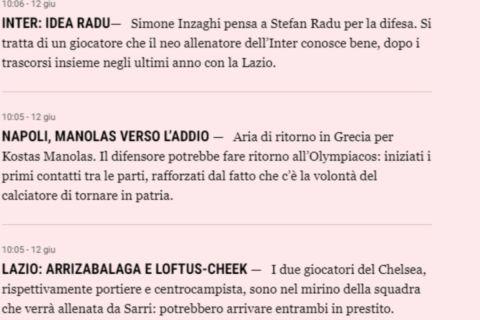 Το δημοσίευμα της Gazzetta για τον Μανωλά | 12 Ιουνίου 2021