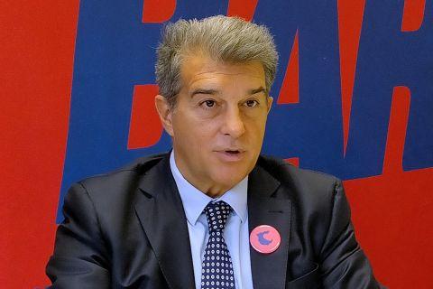Ο πρόεδρος της Μπαρτσελόνα, Τζουάν Λαπόρτα
