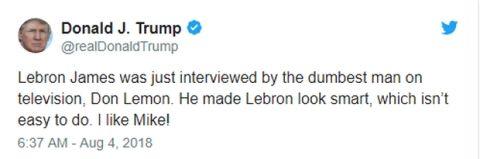 Επίθεση Trump σε LeBron μέσω twitter!