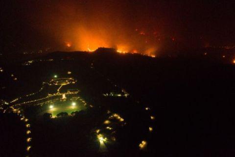 Η νύχτα - εφιάλτης που η φωτιά έφτασε 500 μέτρα από την Αρχαία Ολυμπία
