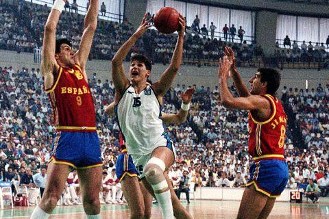 Ο Φάνης Χριστοδούλου στο Ευρωμπάσκετ '87