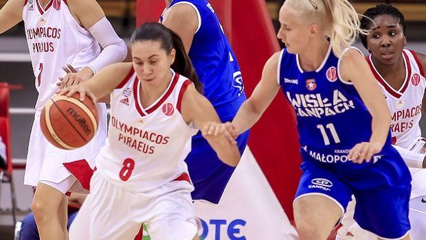 Ολυμπιακός - Βίσλα Κρακοβίας 63-63: H Παυλοπούλου κράτησε όρθιες τις νταμπλούχες