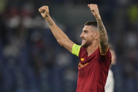 Ο Λορέντζο Πελεγκρίνι πανηγυρίζει γκολ του στο Ρόμα - ΤΣΣΚΑ