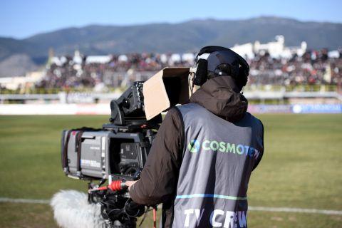 Κάμερα της Cosmote TV σε αγώνα ποδοσφαίρου