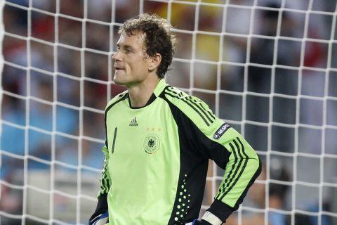 Ο Γενς Λέμαν σε στιγμιότυπο από τον τελικό του Euro 2008 ανάμεσα στη Γερμανία και την Ισπανία