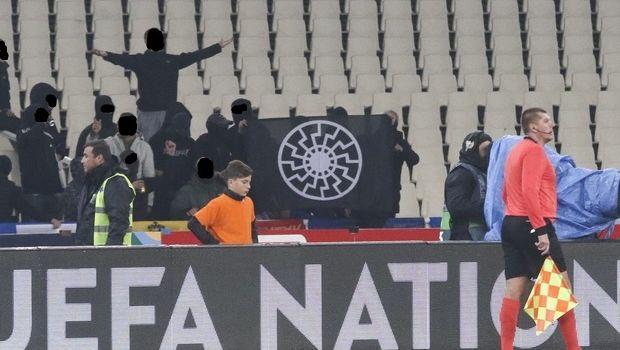 Εθνική Ελλάδας: Δύο θύρες κλειστές για τα ναζιστικά πανό