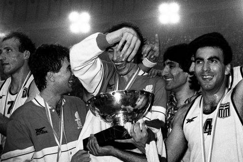 Ο Παναγιώτης Φασούλας στο EuroBasket του '87