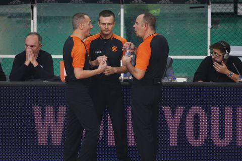 Οι τρεις διαιτητές του αγώνα της 9ης Νοεμβρίου στο επίμαχο Παναθηναϊκός-Ολυμπιακός της Euroleaguee